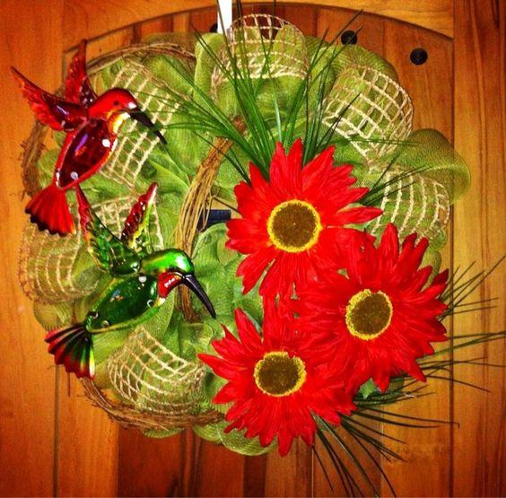 Hummingbird Wreath Door Wreaths With A Theme Pinterest