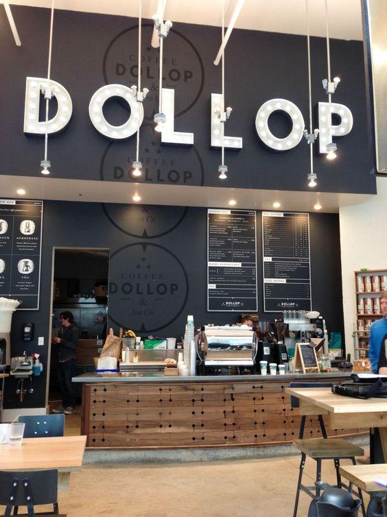 Dollop - Chicago - Creative Menu Boards  Signage #signage #menuboards