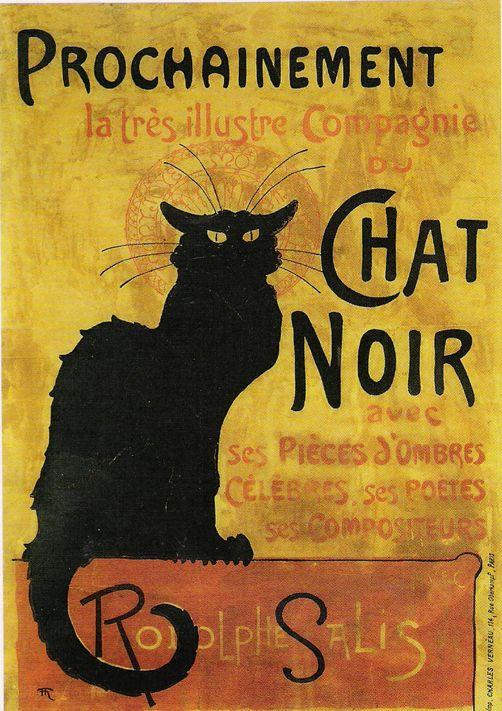 Le chat Noir  Compte Américain écrit par Edgar Allan Poe Pendant la nuit, la maison prend feu mystérieusement, obligeant le narrateur à s'enfuir avec sa femme et le serviteur. Le lendemain, le narrateur retourne visiter les ruines de sa maison, où il découvre, sur le seul mur qui a échappé à l'incendie, la forme d'un chat gigantesque, attaché au cou à une corde.