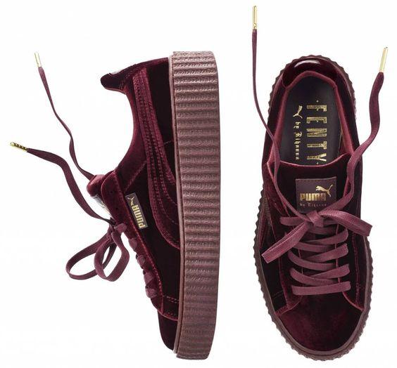 Chaussures Puma X Fenty Rihanna Creepers Velvet Bordeaux