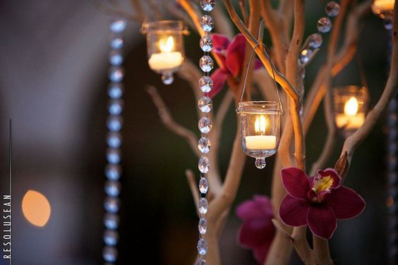 crystals and chandeliers
