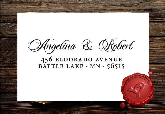 $19.95 for a custom address stamp will come in handy with DIY invitations and thank yous