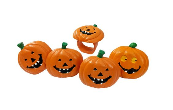 Jack O' Lantern Napkin Rings Vintage Halloween by EclecticEmbrace