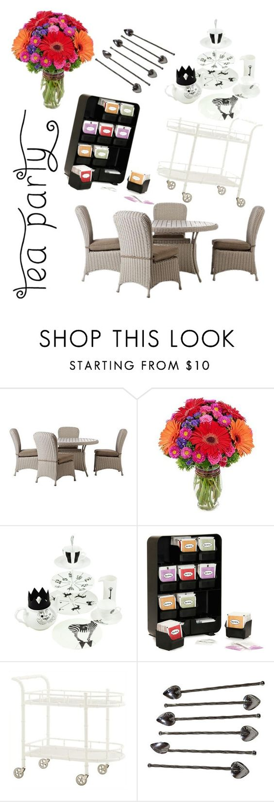 """""""Tea Party Contest Entry"""" by skylar-j-ramsay ❤ liked on Polyvore featuring interior, interiors, interior design, home, home decor, interior decorating, Home Decorators Collection, Mind Reader, contest and teaparty"""