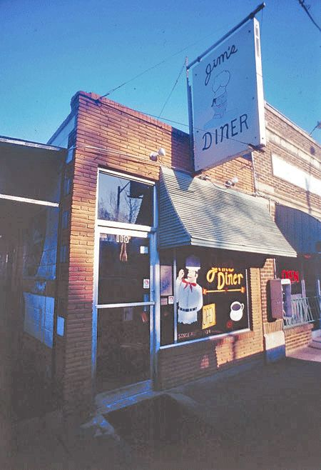 Jim's Diner is shown in the 1990s on Fry Street. My room mate worked there!