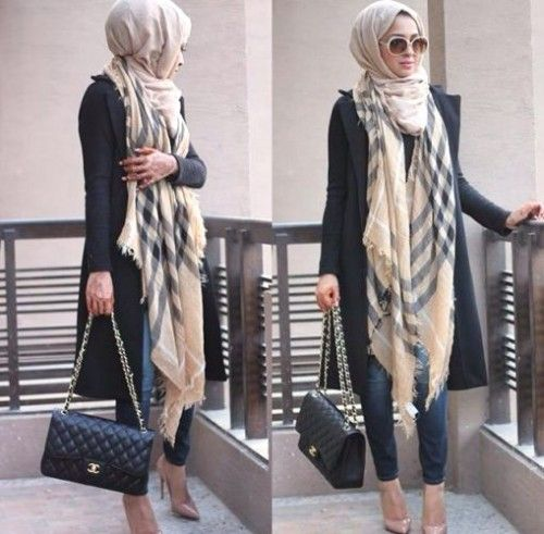 burberry scarf hijab style, Hijab looks by Sincerely Maryam http://www.justtrendygirls.com/hijab-looks-by-sincerely-maryam/: