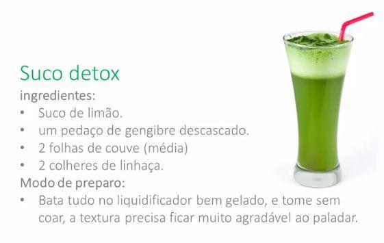 Suco Detox para o Café da Manhã, completar com ovo mexido com azeite e orégano
