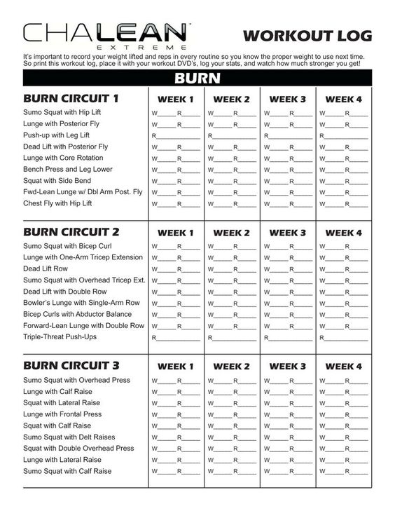 chalean extreme workout sheets - Google Search 21 Pinterest - workout sheet