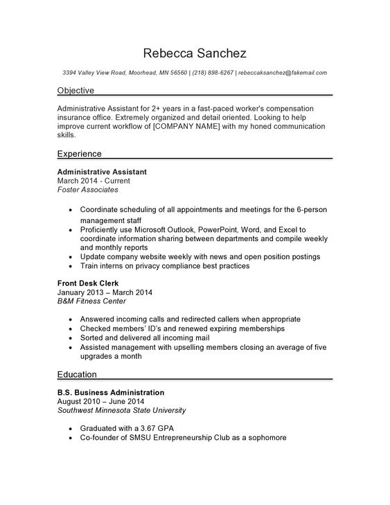 Professionally written administrative assistant resume sample and - medical office assistant resume no experience