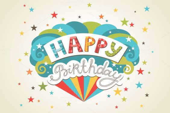 Check out Happy birthday greeting cards by piyacler on Creative Market