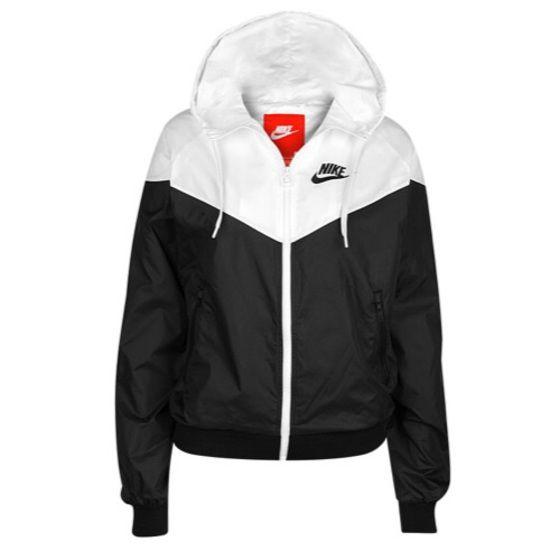 Womens Nike Windrunner Jacket WhiteBlack