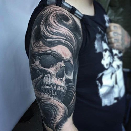 101 Best Skull Tattoos For Men Cool Designs Ideas 2019 Guide Skull Tattoos Tattoos For Guys Skull Sleeve Tattoos