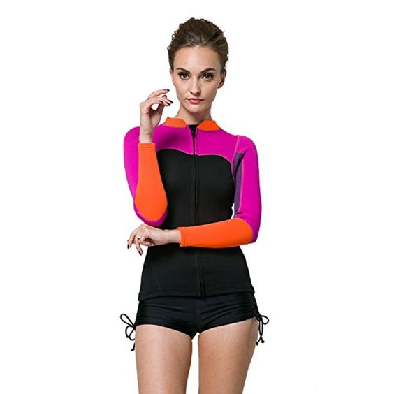 2mm warm winter coat red diving Neoprene scuba diving clothing surf winter swimsuit , purple , s -- Awesome products selected by Anna Churchill