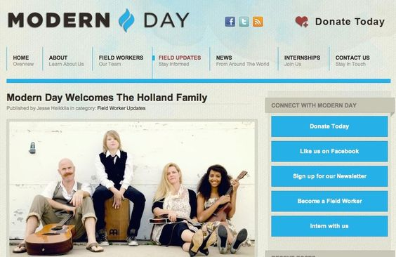Modern Day, The Hollands! www.thehollands.org