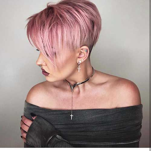 Short Hairstyless Com Pink Short Pixie Haircuts Short Hair Styles Pixie Short Hair Color Hair Styles