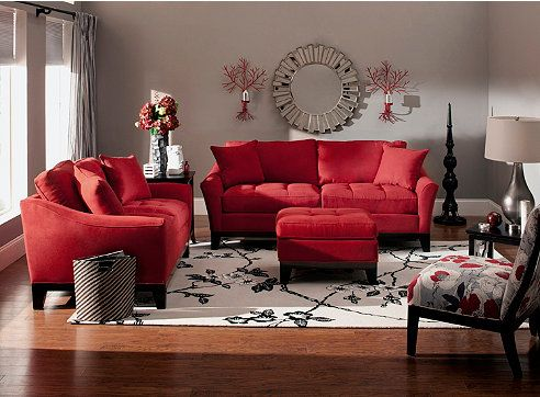 living room with red furniture myrfholiday sweepsentry raymour and flanigan furniture 22464