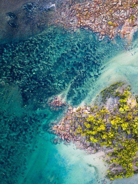 ... und hier am One Arm Point, auch im Bundesstaat Westaustralien. Felsen,...