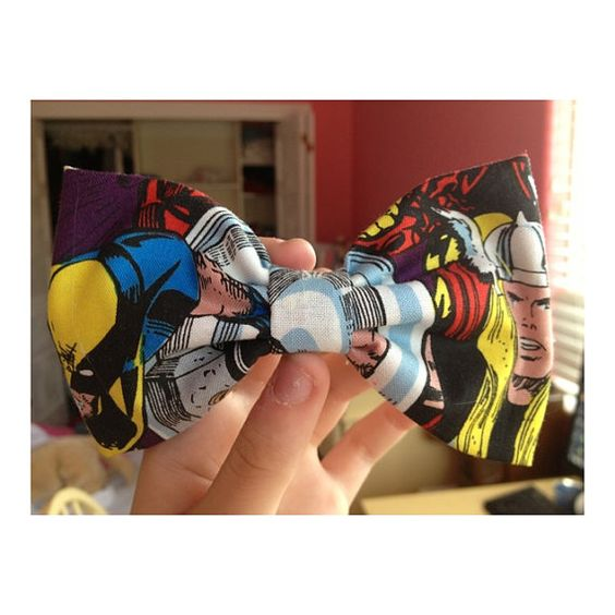 Marvel Superhero Hair Bow by TimeForBows on Etsy, $6.00
