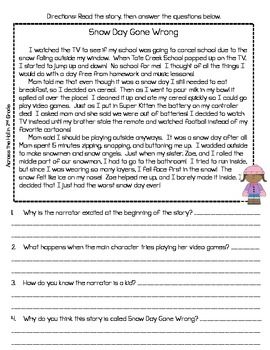 christmas reading passages 3rd grade pdf