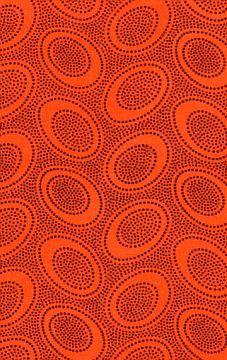 Aboriginal dot orange