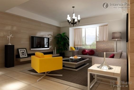 Minimalist Style Mini Living Room TV Background Wall Decoration Effect