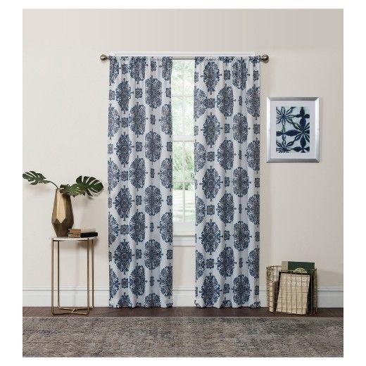 Olivia Thermaweave Blackout Curtain Panel Aqua (Blue) (37