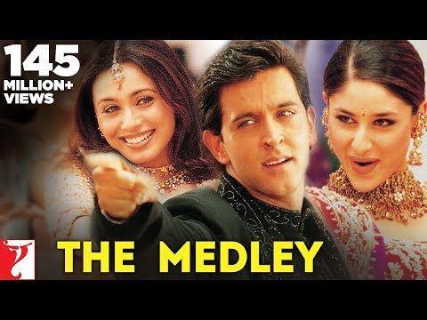 The Medley Song Antakshari Mujhse Dosti Karoge Hrithik Roshan Kareena Kapoor Rani Mukerji Youtub Hrithik Roshan Bollywood Music Videos Rani Mukerji