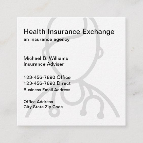Unique Insurance Agent Square Business Card Zazzle Com Square