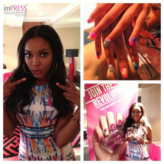 Hanging out with Dionne Bromfield. Check out her imPRESS Mani.