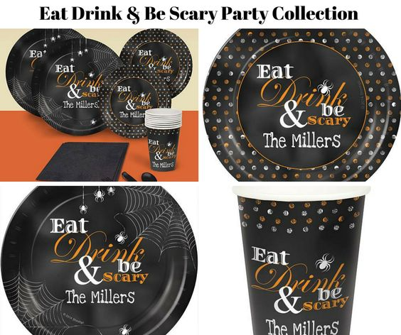 Eat Drink & Be Scary Party Banner