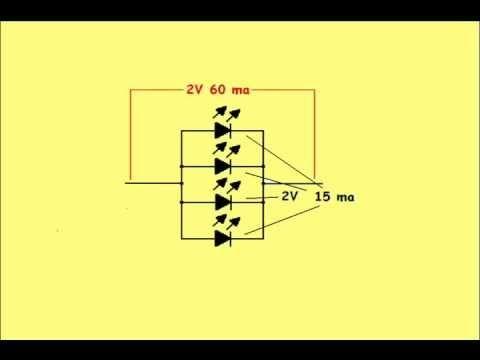 Parte 3 Conectar Diodos Led En Serie O Paralelo Proyectos Electronicos Diodo Led