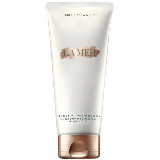 La Mer 'Soleil de La Mer - The Face & Body Gradual Tan' Lotion ($95) ❤ liked on Polyvore featuring beauty products, bath & body products, sun care, różne and no color