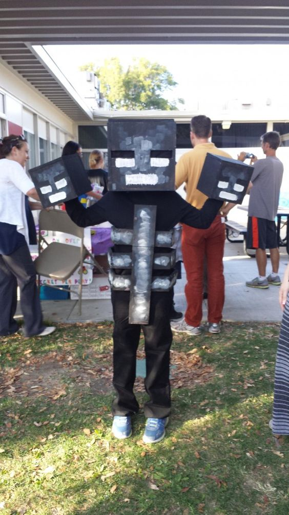 minecraft wither skeleton costume minecraft halloween costumes the holidays pinterest. Black Bedroom Furniture Sets. Home Design Ideas