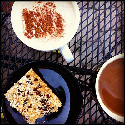 Bike ride coffee shop treats. #glutenfree.