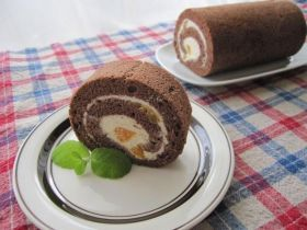 「ふわっとかる〜いオレンジのココアロール♪」tai | お菓子・パンのレシピや作り方【corecle*コレクル】