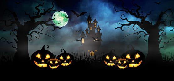 Fundo Assustador Da Noite De Halloween | Halloween desktop wallpaper, Night  background, Halloween illustration