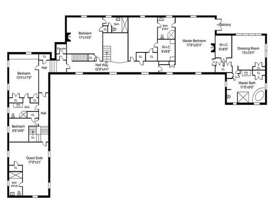 Simple house plans and ranch house plans on pinterest for Country house plans with open floor plan