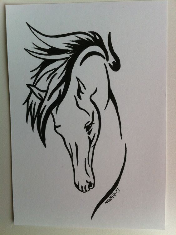 Line Drawing Horse Tattoo : Pinterest the world s catalog of ideas
