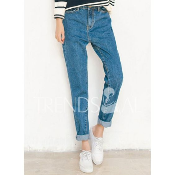 Stylish High-Waisted Loose-Fitting Women's Harem Jeans