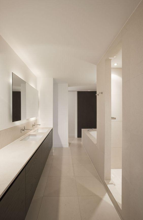 Ontwerp bad and badkamer on pinterest - Gemeubleerde salle de bains ontwerp ...