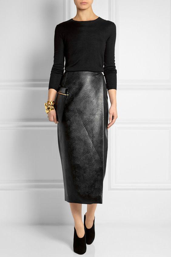 Emilia Wickstead | Faux leather wrap skirt | NET-A-PORTER.COM ...