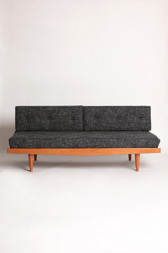 Mid Century Sofa Black Fleck Urban Outfitters Offices And Overalls