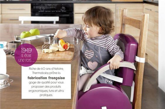 Thermobaby – Produits de puériculture pour Bébé et produits de maternité Réhausseur de chaise Babytop Webdesign Emilie GAUVRIT