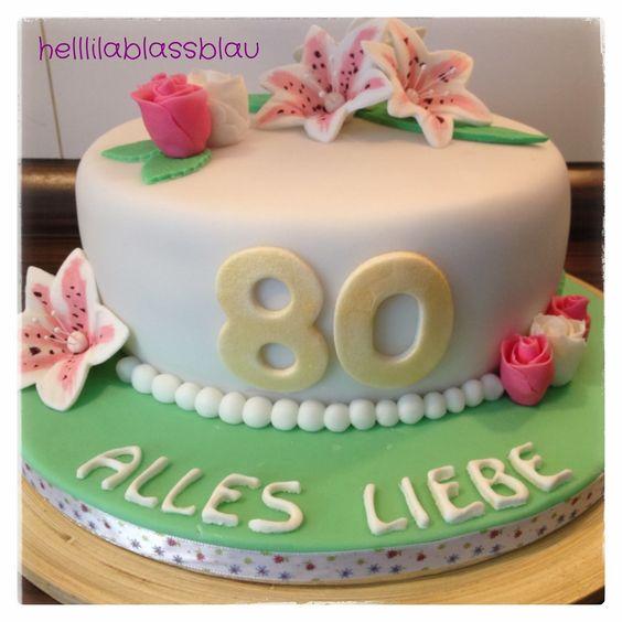 Blumen zum 80 geburtstag 80 geburtstag pinterest - 80 geburtstag oma ideen ...