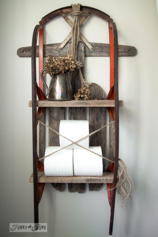 Miss mustard seeds by funky and pallet wood on pinterest for Funky shelving ideas