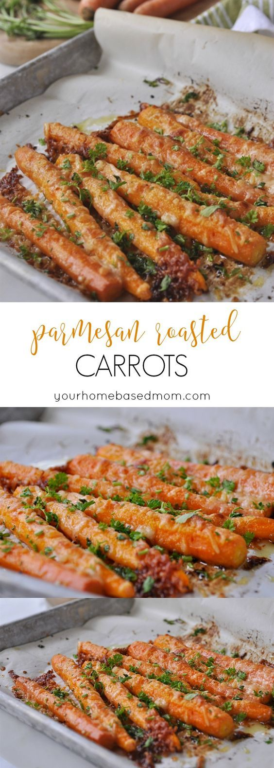 Parmesan Roasted Carrots - the perfect way to get your family to eat their veggies.: