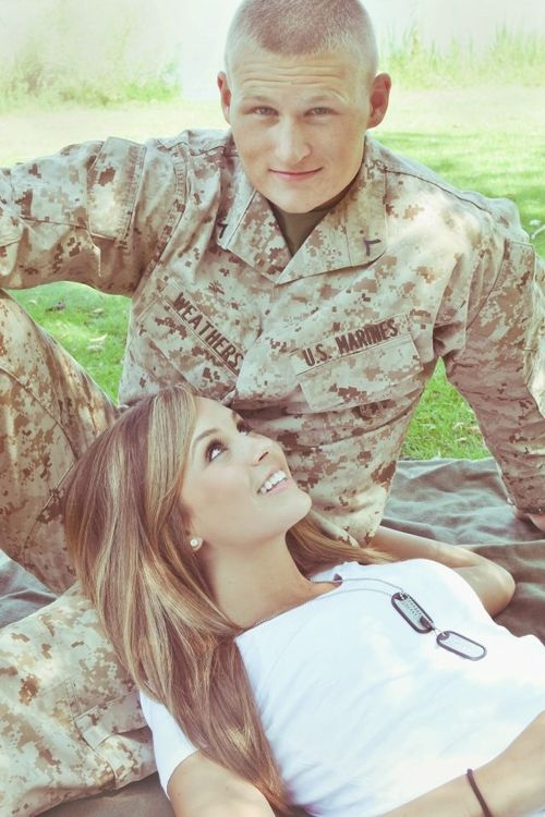 Such a cute pose idea! Would be so much cuter if his uniform said Army ;)