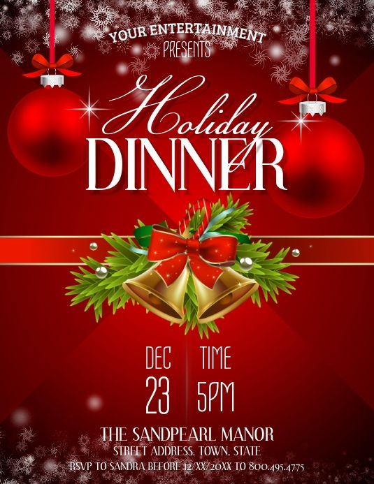 Christmas Buffets 2020 Holiday Dinner in 2020   Christmas dinner invitation, Holiday