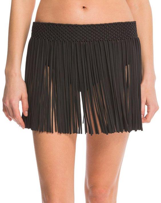 Athena Swimwear Cabana Fringe Cover Up Skirt 8139460