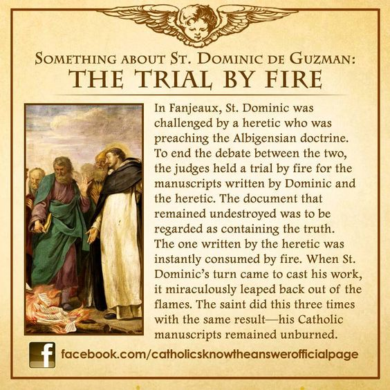 St Dominic de Guzman - The Trial by Fire